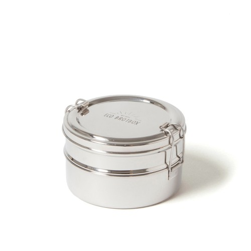 Tiffin Double - Tiffin Box - Lunch Pail of stainless steel | ecobrotbox