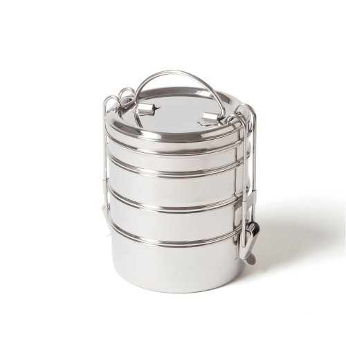 Tiffin Pro+ 4-layer lunchbox with sealing ring | ecobrotbox