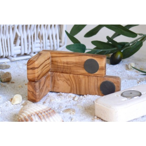 Olive wood Magnetic Soap Holder | Olivenholz erleben