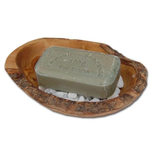 Stonebase Rustic Olive wood Soap Dish | D.O.M.