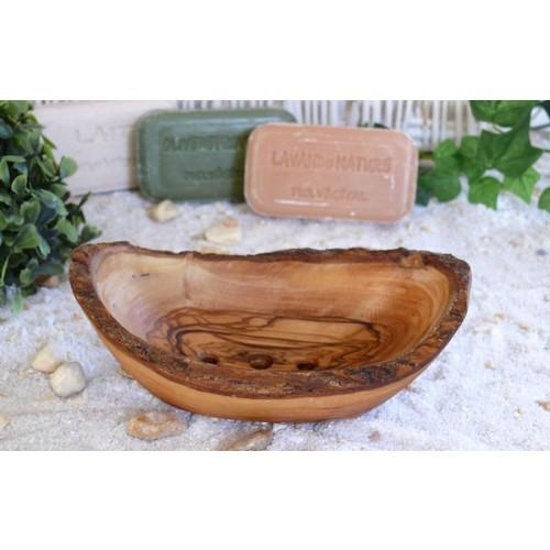 Olive Wood Soap Dish, rustic, with Draining Holes | Olivenholz erleben