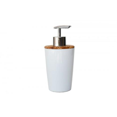 Soap Dispenser DESIGN Porcelain & Olive Wood | D.O.M.