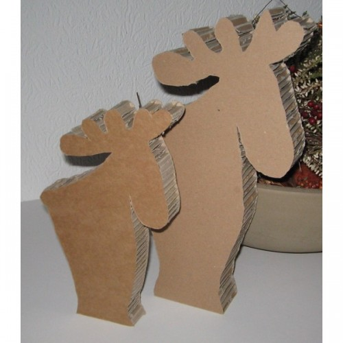 Ron and Ronny, the elks – Cardboard Animals