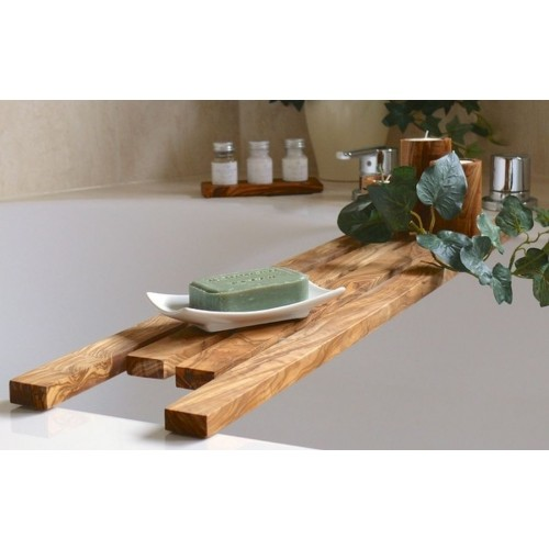 Bathtub Caddy DESIGN - olive wood natural | D.O.M.