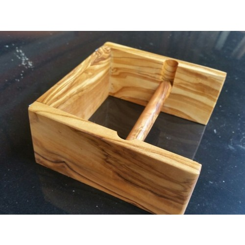Self Adhesive Toilet Paper Holder MUNICH Olive Wood | D.O.M.