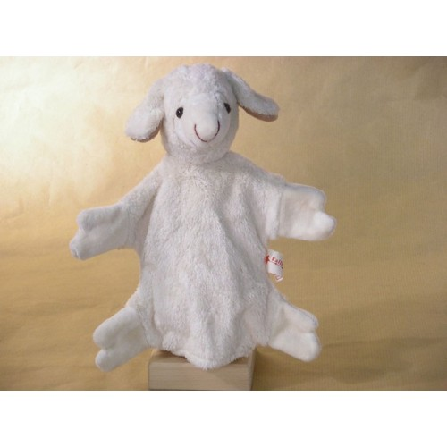 Hand Puppet Sheep vegan - organic cotton toy | Kallisto