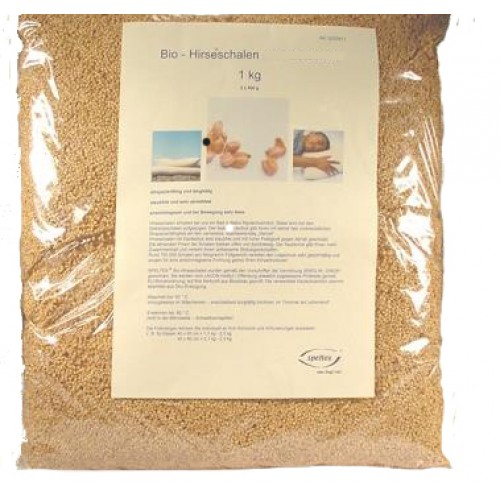 Organic millet husks without rubber