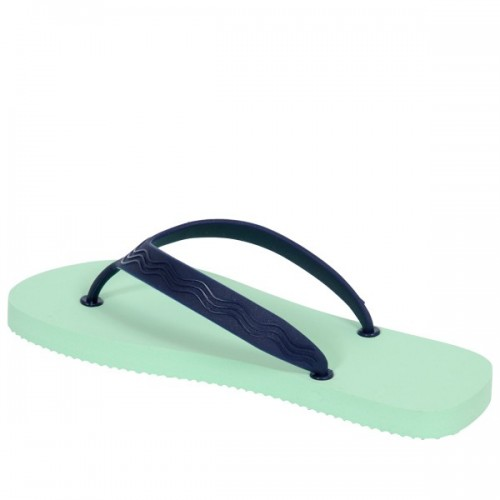 Green-blue eco flip-flops Goganics thongs of bioplastics