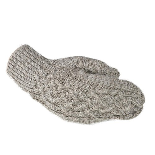 Unisex Mittens London 100% Alpaca Plain, One Size, Sand