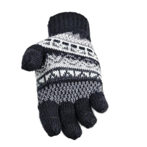Alpaca Gloves with pattern INKA, gender-neutral gloves | AlpacaOne