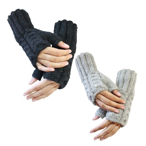 Half-fingered Gloves Selina - Alpaca Unisex Gloves | AlpacaOne
