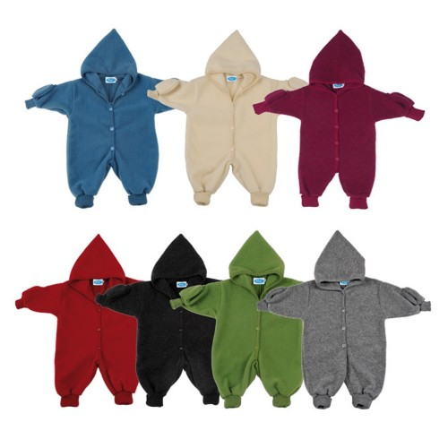 Kids Plain Fleece Overall with Gloves - eco merino-wool | Reiff