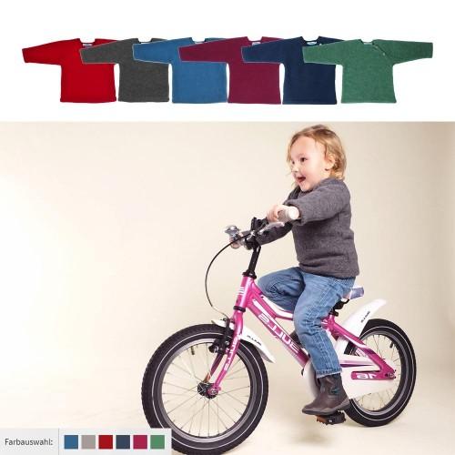 Kids Plain Fleece Jumper, Eco Merino-Wool | Reiff
