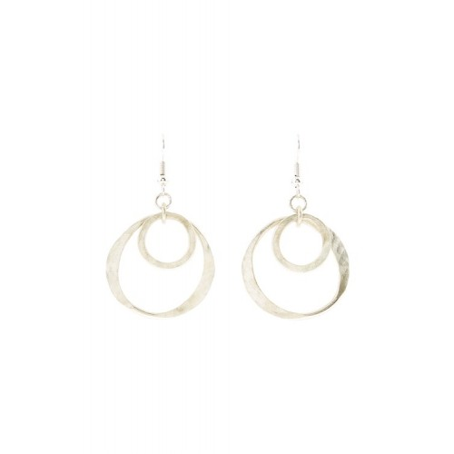 Double Circle Earrings de