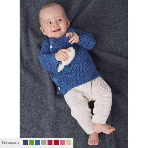 Knitted Baby Plain Leggings made of eco wool | Reiff