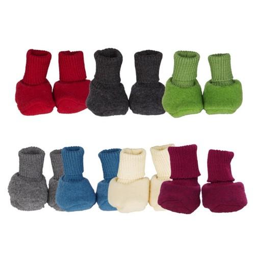 Baby Fleece Booties of Organic Wool Fleece | Reiff