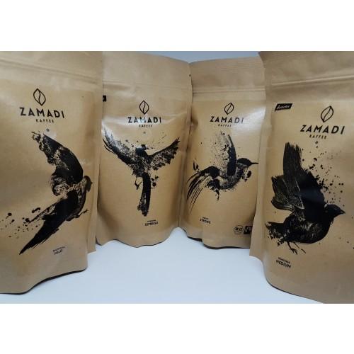 ZAMADI Bio Kaffee Probierset 4 x 250g ganze Bohne
