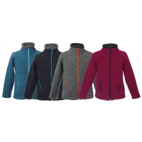 Kids Fleece Jacket Colori made of Organic Merino Wool | Reiff