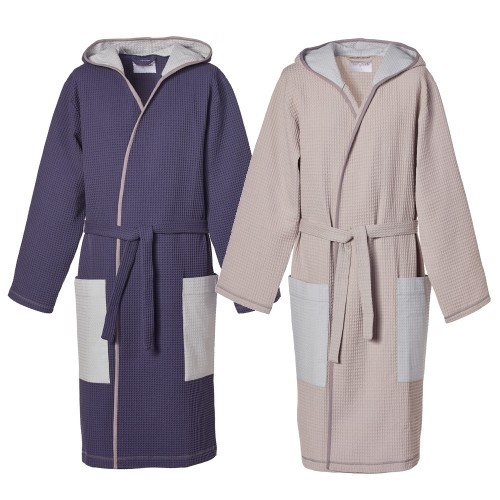 Stylish Men's Waffle Robe, Organic Cotton & Hoodie | earlyfish