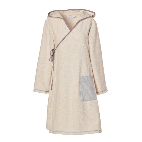 Classic Nature Women's Terrycloth Wrap Robe with hood | earlyfish