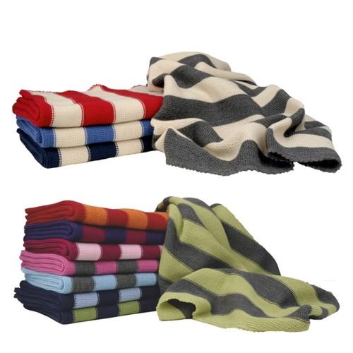 Ringed Baby Wraparound Garment made of Eco Merino Wool | Reiff