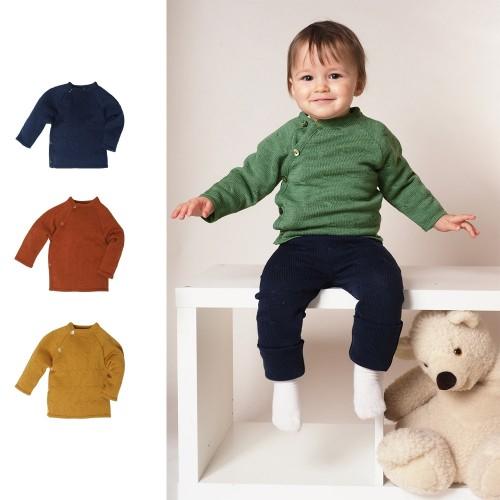 Kids Wrap Cardigan-Jumper Twist, Eco Wool » Reiff