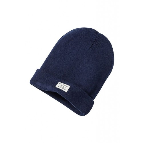 Unisex Knit Beanie Classic navy, GOTS organic cotton | recolution