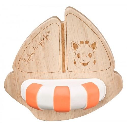 Natural bath toy Boat Sophie la girafe® So'Pure | Vulli