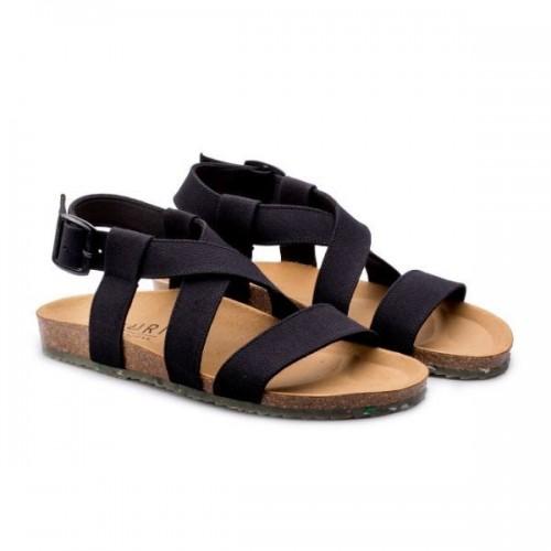 Eco-vegan Sandals SAND black » Zouri