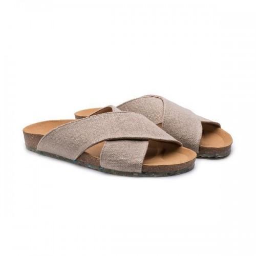 Eco-vegan Sandals SUN Linen Natural » Zouri