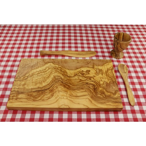 4 pieces eco Breakfast Set PALMA of Olive Wood | D.O.M.