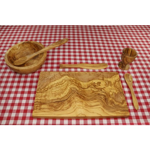 6-part eco Breakfast Set PALMA of Olive Wood | D.O.M.