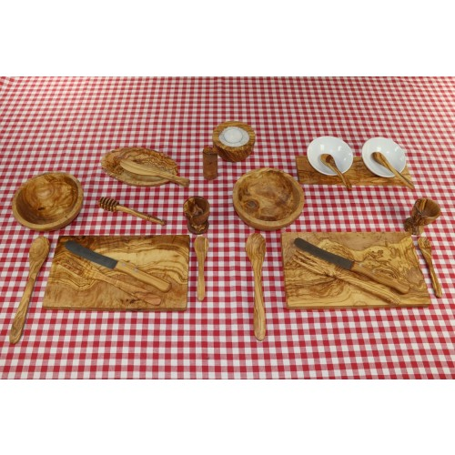 Eco Breakfast Set GRANDE of Olive Wood for 2 Persons