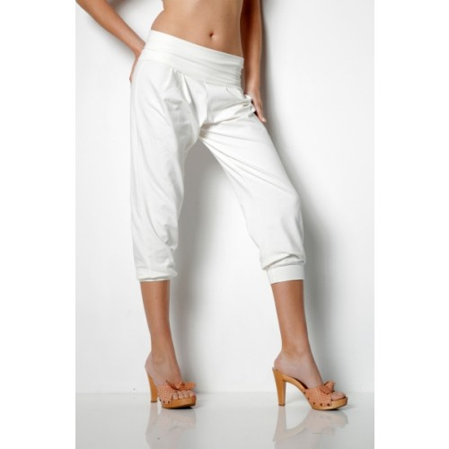 Eco Pants in Sarouel Style ¾ Length