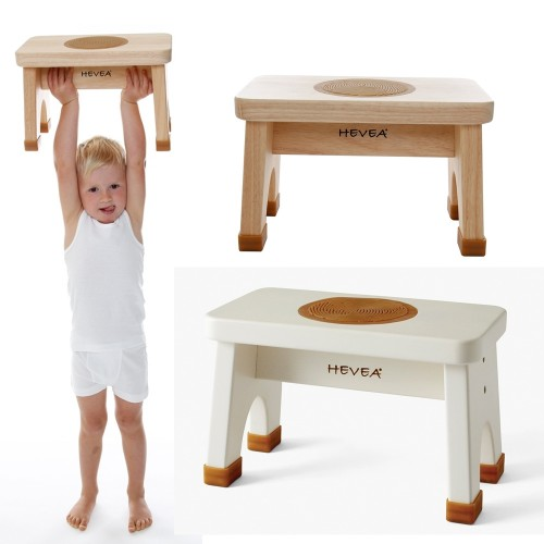 Hevea Baby Step Stool - Rubberwood in Natural or White
