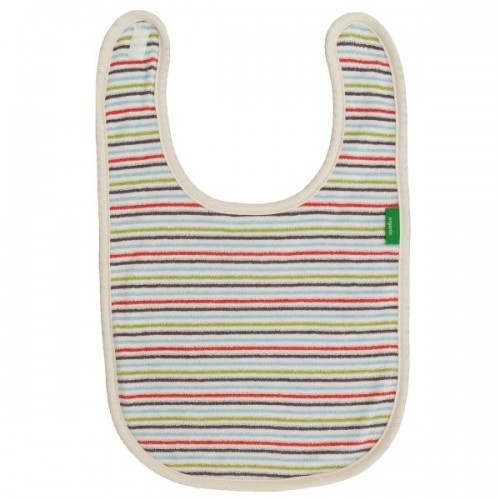 Organic Cotton Baby Bib – Stripes Multicoloured