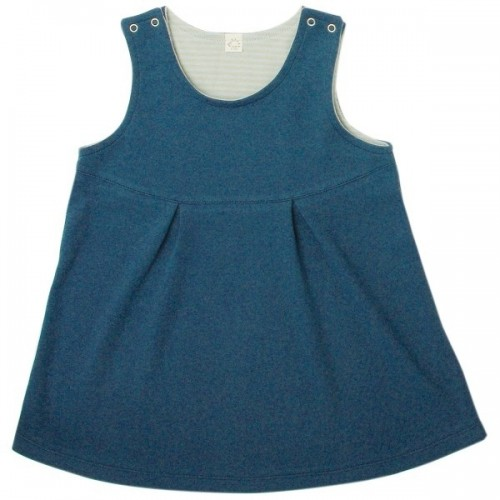 Jeans-colored dress for girls of organic cotton