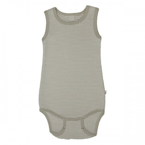 Summer baby bodysuit sleeveless of organic cotton | iobio