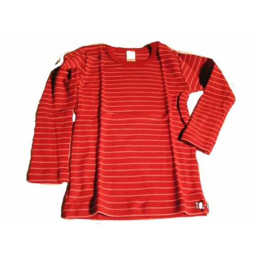 Eco Baby undershirt long-sleeved cherry red | Engel