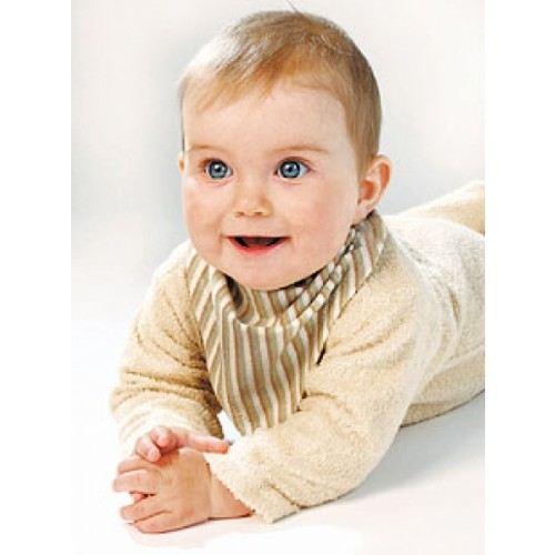 Baby bandana organic cotton brown-striped | iobio