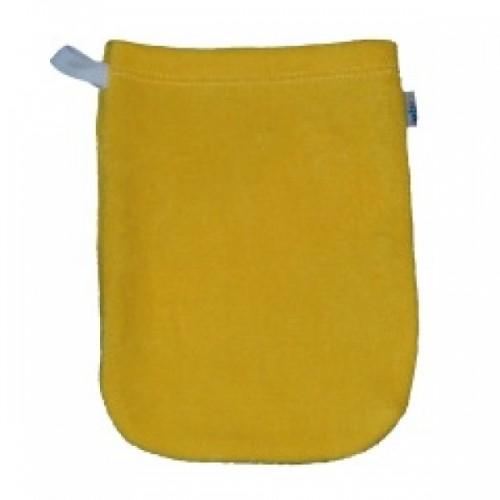 Popolini Babys Wash Mitt organic cotton yellow