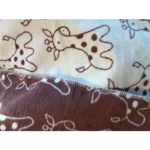 ASMi Baby Blanket Organic Cotton ecru/chocolate
