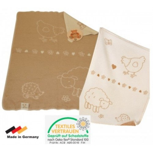 "Eco Baby Blanket Organic Cotton ""Farm"" | ASMi"
