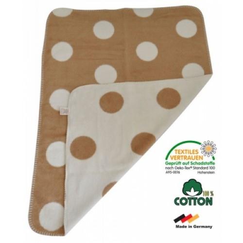 "Eco Baby Blanket Organic Cotton ""Dots"" | ASMi"