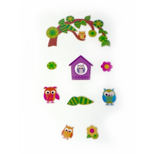 Hess Wooden Mobile Owls