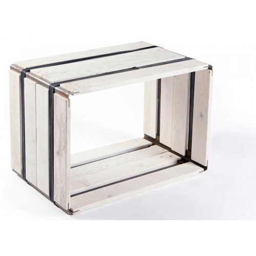 Upcycled wooden shelf MOVEO. CASA 40.60 white | reditum