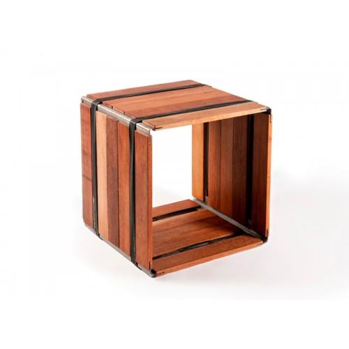 Shelf modular unit MOVEO. F1 40.40 upcycled wood | reditum