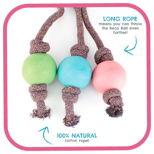 Eco Dog Toy - Beco Ball on Rope | BecoPets