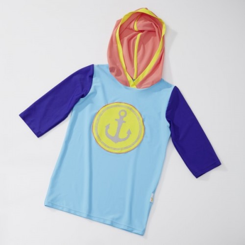 UV Schutz Kapuzenshirt mit ANKER Print | early fish