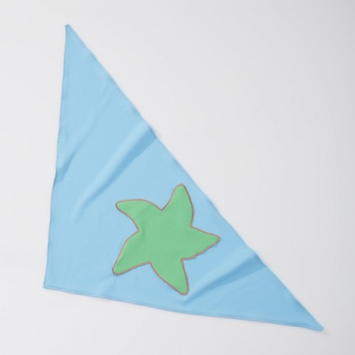 UV Protection Triangular Scarf blue